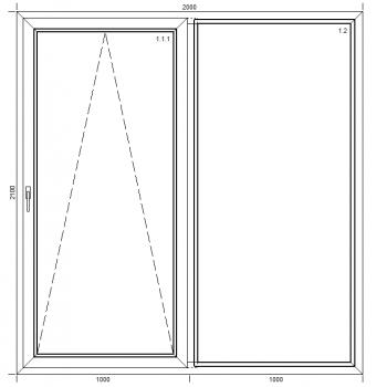 Drzwi przesuwne PSK Passiv Pro z montażem