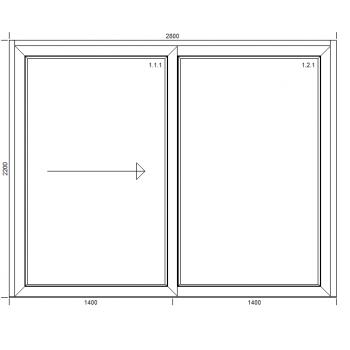 Drzwi przesuwne HST z montażem