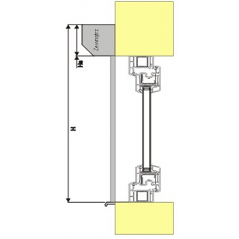 Roleta zewnętrzna standard do okna 150x150 cm