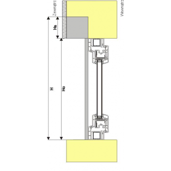 Roleta zewnętrzna podtynkowa do okna 90x220 cm
