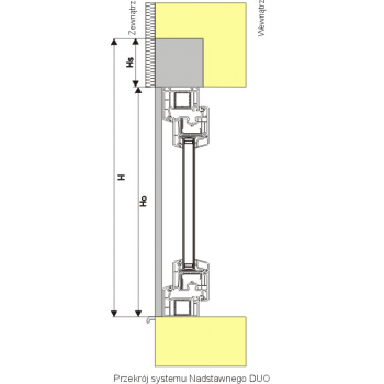 Roleta zewnętrzna nadstawna do okna 90x220 cm