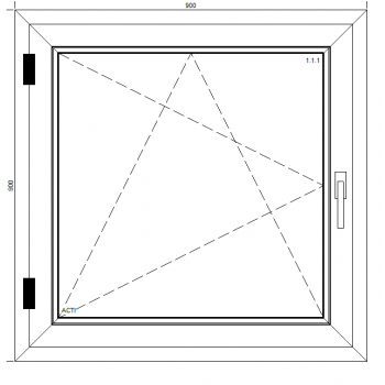 Okno PCV Classic z montażem
