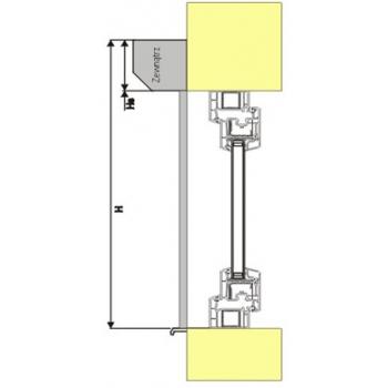 Roleta zewnętrzna standard do okna 150x150 cm z montażem