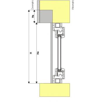 Roleta zewnętrzna podtynkowa do okna 180x220 cm z montażem