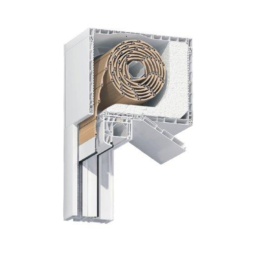 Roleta zewnętrzna nadstawna do okna 90x120 cm z montażem
