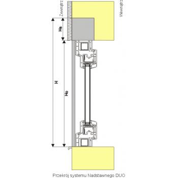 Roleta zewnętrzna nadstawna do okna 90x220 cm z montażem