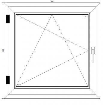 Okno PCV Passiv Pro Light z montażem