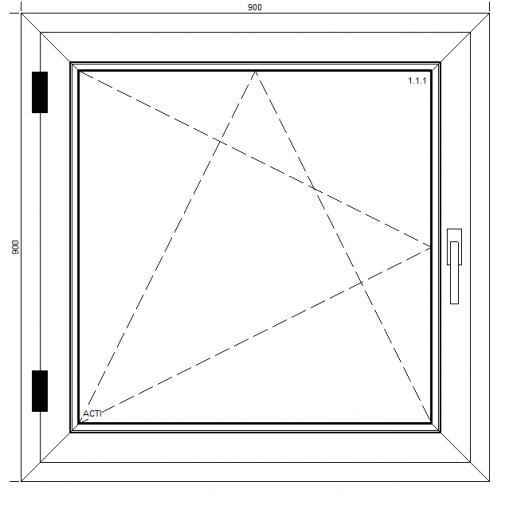 Okno PCV Passiv Pro z montażem