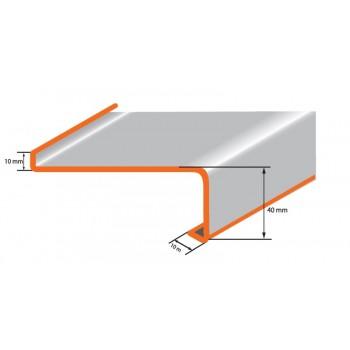 Klasyczny parapet zewnętrzny metalowy wenge