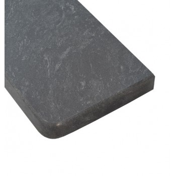 Parapet aglomarmur Baltic Gray z montażem