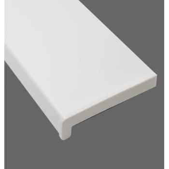 Parapet wewnętrzny PCV w kolorze białym z montażem