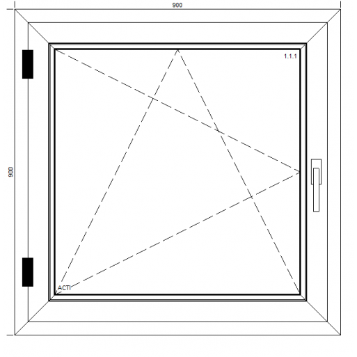 Okno PCV Quattro z montażem