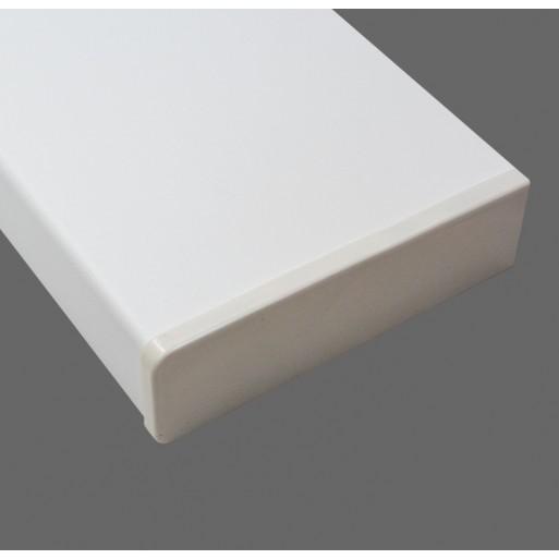 Nakładka parapetowa PCV w kolorze białym z montażem