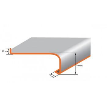 Parapet zewnętrzny metalowy wenge z montażem