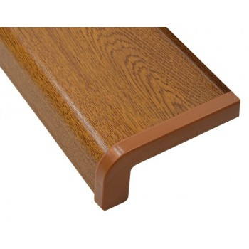 External metal window sill golden oak including installation