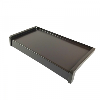 Classic aluminum external window sill brown RAL 8019 including installation