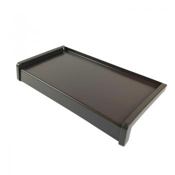 Parapet zewnętrzny aluminiowy klasyczny brąz RAL 8019 z montażem