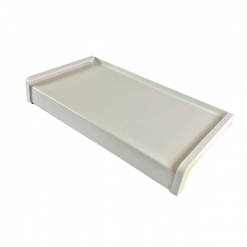Classic aluminum external window sill white RAL 9016 including installation