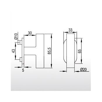 Klamka okienna gQ FG63 FRS.ER