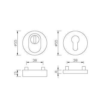 Rozeta ochronna (para) ZA PZ 15 mm ER