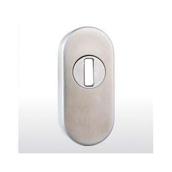 Schieberosette oval mit Schließzylinderschutz (ZA) ER