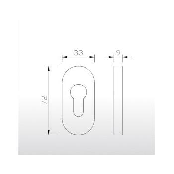 Rozeta owalna 9 mm ER