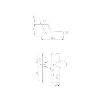 Knob-SZ gQ DG58 PZ92 STAINLESS STEEL. 216