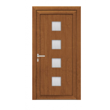 Drzwi PCV Passiv Pro system gotowych wypełnień drzwiowych Perito Zdena 36mm