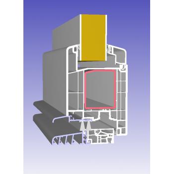 Drzwi PCV Passiv Pro system gotowych wypełnień drzwiowych Perito Dora 36mm