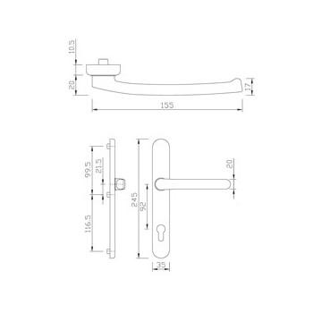 Handle-SZ gQ DG58 PZ92 EXT. F1 216