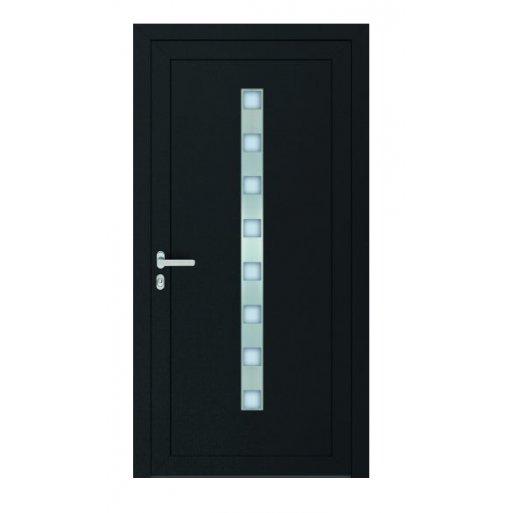 Drzwi PCV Passiv Pro system gotowych wypełnień drzwiowych Perito Nicol 36mm z montażem