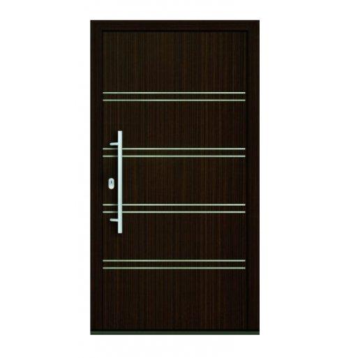 Drzwi PCV Passiv Pro system gotowych wypełnień drzwiowych Perito Michaela 36mm z montażem