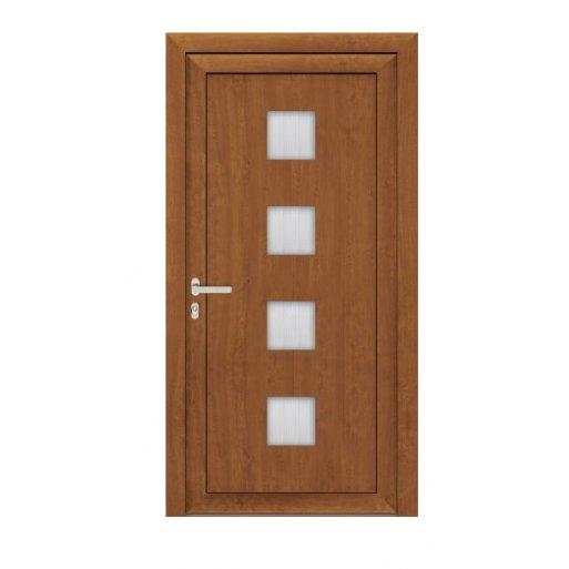 Drzwi PCV Passiv Pro system gotowych wypełnień drzwiowych Perito Zdena 36mm z montażem
