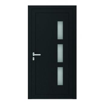 Drzwi PCV Passiv Pro system gotowych wypełnień drzwiowych Perito Dora 36mm z montażem